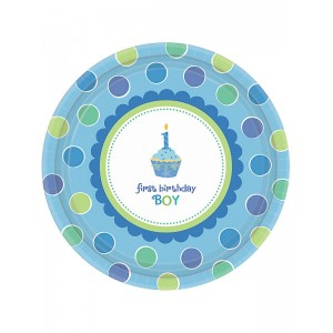 Sweet Little Cupcake Boy Desser Plates