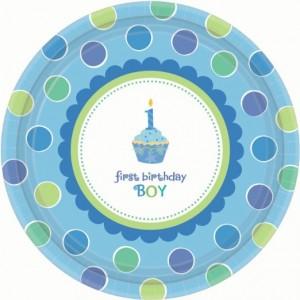 Sweet Little Cupcake Boy Dinner Plates