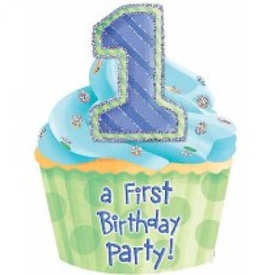 1st Birthday Boy Jumbo Invitation