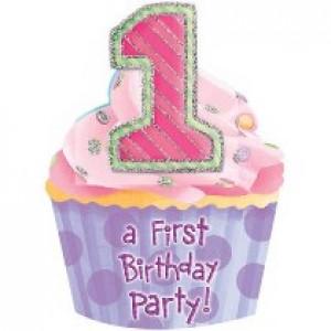 1st Birthday Pink Jumbo Invitation