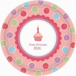 Sweet Little Cupcake Girl Desser Plates