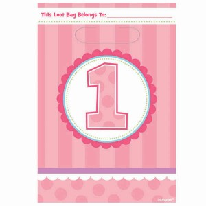 1st Birthday Girl Loot Bags