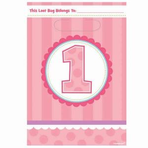 1st Birthday Girl Loot Bags