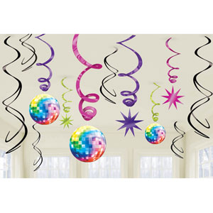 Disco Swirl Decoratoin 12ct