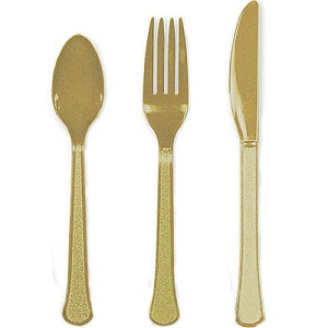 Gold Assorted Cutlery