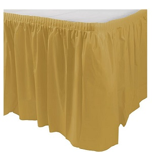 Gold Table Skirt