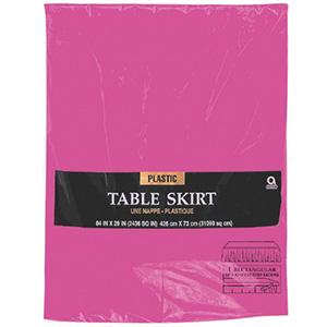 Magenta Table Skirt