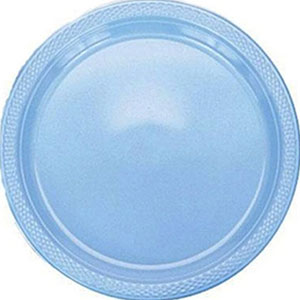 Powder Blue Desser Plates