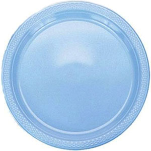 Powder Blue Dinner Plates
