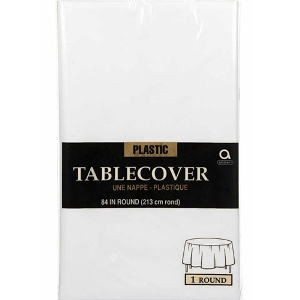 White Table Cover Round