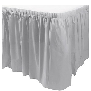 Silver Table Skirt