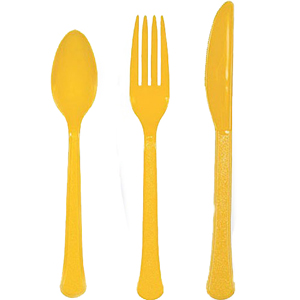 Yellow Assorted Cutlery