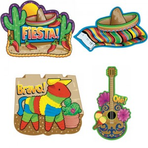 Fiesta Assorted Cutouts 4ct