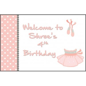 Ballerina Welcome Sign